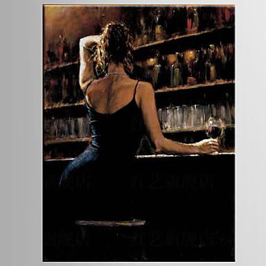 Maalattu IhmisetModerni / European Style 1 paneeli Kanvas Hang-Painted öljymaalaus For Kodinsisustus