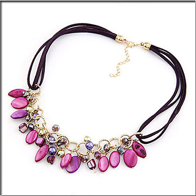 Women's Bohemian European Choker Necklace Shell Alloy Choker Necklace ,