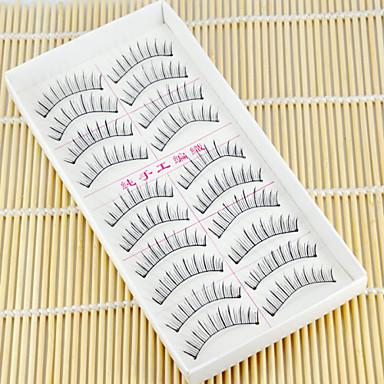 10 Eyelashes lash Individual Lashes Natural Long Eyelash Individual Lashes Natural Long Volumized Natural Handmade Fiber