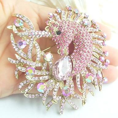 γυναικεία αξεσουάρ χρυσό-Ήχος ροζ στρας κρύσταλλο μονόκερος καρφίτσα άλογο αρτ ντεκό κασκόλ γυναίκες καρφίτσα κοσμήματα