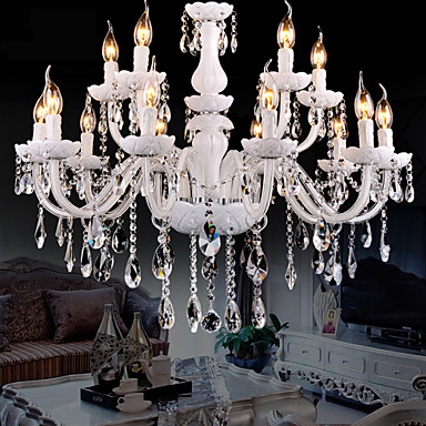 Modern/Contemporary Crystal Chandelier Ambient Light For Living Room Bedroom Dining Room Study Room/Office Hallway Warm White White