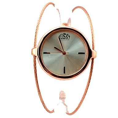 Женские Модные часы Часы-браслет Наручные часы Кварцевый сплав Группа Кольцеобразный Элегантные часы Золотистый