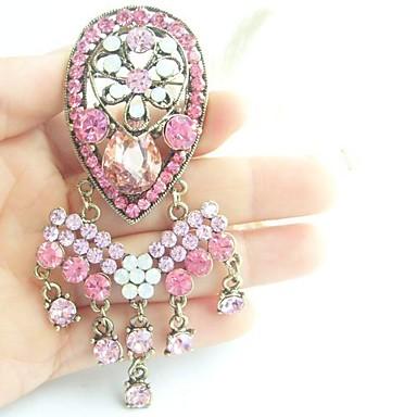 γυναικεία αξεσουάρ χρυσό-Ήχος ροζ στρας κρύσταλλο deco καρφίτσα λουλούδι καρφίτσα art γυναίκες μπουκέτο κοσμήματα