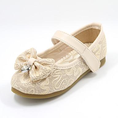 Genç Kız Ayakkabı Tül Yaz Günlük Dış mekan için Fiyonk Pembe Bej