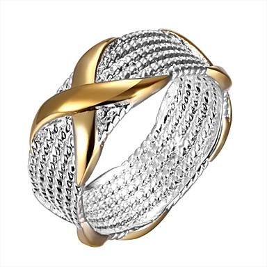 levne Dámské šperky-Dámské Band Ring Vyzvánění Prsten Stříbro Evropský Fashion Ring Šperky Stříbrná Pro Denní 6 / 7 / 9