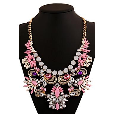 Dame Form Luksus Uttalelse Halskjeder Krystall Syntetiske Edelstener Legering Uttalelse Halskjeder Fest Kostyme smykker