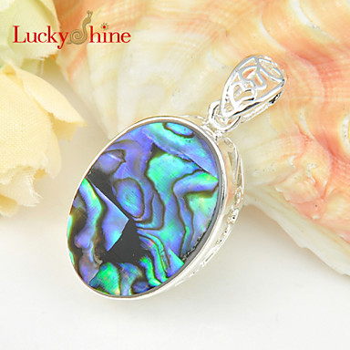 Men's Women's Classic Pendant Necklace Pendant Synthetic Gemstones Silver Plated Pendant Necklace Pendant , Wedding Party Daily Casual