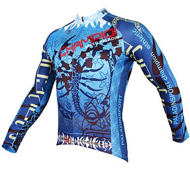 ILPALADINO Bisiklet Forması Erkek Uzun Kol Bisiklet Forma ÜstlerHızlı Kuruma Ultravioleye Karşı Dayanıklı Nefes Alabilir Sıkıştırma Hafif