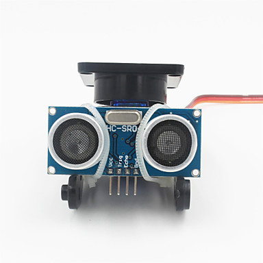Ultraschall-Abstandsmesswandlermodul-Kit w / 9g Servo - black