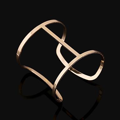 Γυναικεία Χειροπέδες Βραχιόλια Μοντέρνα Ευρωπαϊκό Κράμα Square Shape Geometric Shape Κοσμήματα Για Πάρτι Καθημερινά Causal 1pc