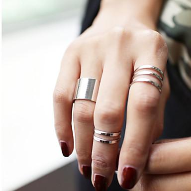 voordelige Dames Sieraden-Dames Sieraden Set Knokkelring duimring Zilver Gouden Legering Cirkelvorm Dames Gepersonaliseerde Ongewoon Feest Dagelijks Sieraden