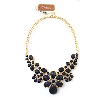 Women's Statement Necklace - Flower Fashion White, Black Necklace For Wedding, Daily, Casual