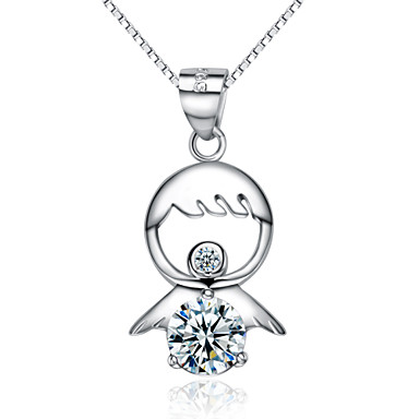 Women's Charms Pendants Sterling Silver Crystal Zircon Cubic Zirconia Platinum Plated Geometric Fashion JewelryWedding Party Daily Casual