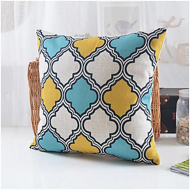country stílusú geometrikus minta pamut / vászon dekoratív párna fedél