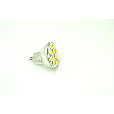 3W GU4(MR11) Точечное LED освещение MR11 12 SMD 5050 190-215 lm Тёплый белый DC 12 V 6 шт.
