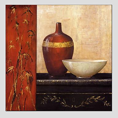 Hang-Malowane obraz olejny Ręcznie malowane - Martwa natura Fason europejski / Nowoczesny Brezentowy