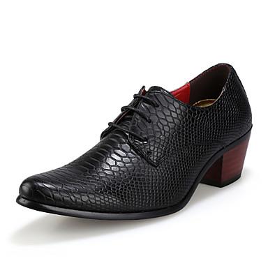 Herrn Schuhe Künstliche Mikrofaser Polyurethan Winter Herbst formale Schuhe Leuchtende Sohlen Komfort Outdoor Schnürsenkel für Hochzeit