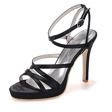 Damen Schuhe Seide Frühling Sommer Stöckelabsatz für Hochzeit Party & Festivität Fuchsia Rot Blau Rosa Champagner