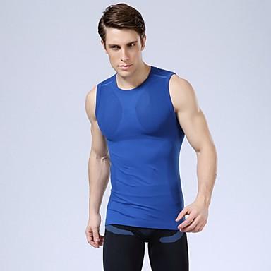 kuivuu nopeasti UV urheilullinen miesten liivi ulkoiluvaatteet puristus kehonrakennus seksikäs paitoja 5 väriä valita