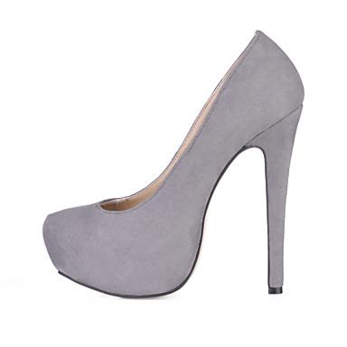 Mujer Zapatos Terciopelo Primavera / Otoño Confort Tacones Tacón Stiletto Dedo redondo Azul / Rosa / Morado / Fiesta y Noche / Vestido EEyIL