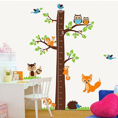 Hayvanlar Botanik Karton Duvar Etiketler Uçak Duvar Çıkartmaları Dekoratif Duvar Çıkartmaları Yükseklik (Boy Ölçme) Çıkartmaları, PVC Ev