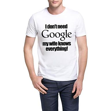 spreuken t shirt LooShow Men's Funny Sayings Casual/Sport Print Short Sleeve Cotton  spreuken t shirt