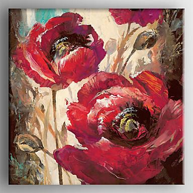 Ручная роспись Цветочные мотивы/ботаническийРеализм 1 панель ХолстУкрашение дома