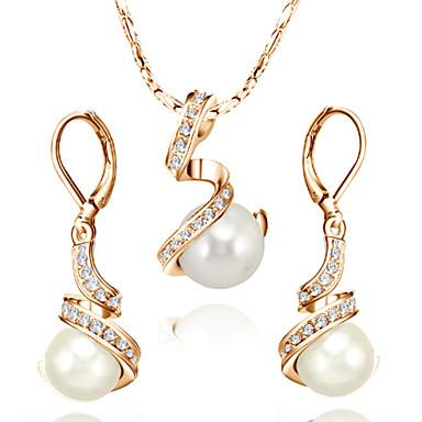 Damen Kristall Schmuck-Set - Perle, Krystall, Künstliche Perle Einschließen Für Hochzeit / Party / Alltag / Kubikzirkonia