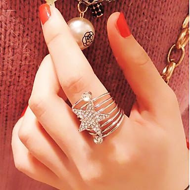 Femme Anneau de déclaration Argent Doré Imitation Diamant Alliage Luxe Multicouches Mode Mariage Soirée Quotidien Décontracté Bijoux de