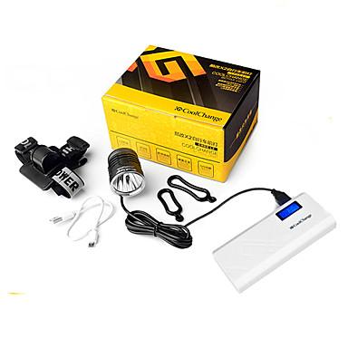 LED zseblámpák Kerékpár világítás Kerékpár első lámpa Kerékpár hátsó lámpa LED Cree XM-L L2 Kerékpározás Vízálló mobil tápegység Könnyű