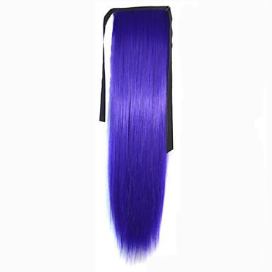 New Purple syntetisk Hestehale مستقيم Micro Ring Hair Extensions Hestehale 22inch gram Medium (90g-120g) Mengde