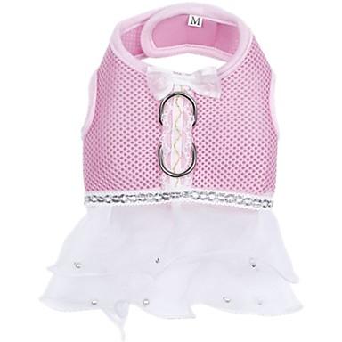 Chien Harnais Robe Vêtements pour Chien Nœud papillon Bleu de minuit Violet Rouge Rose Bleu clair Tissu Costume Pour les animaux