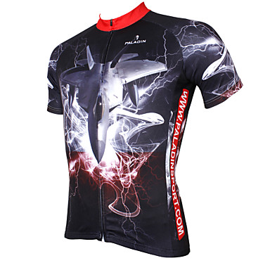 ILPALADINO Herrn Kurzarm Fahrradtrikot - Schwarz Fahhrad Trikot / Radtrikot, Rasche Trocknung, UV-resistant, Atmungsaktiv Polyester