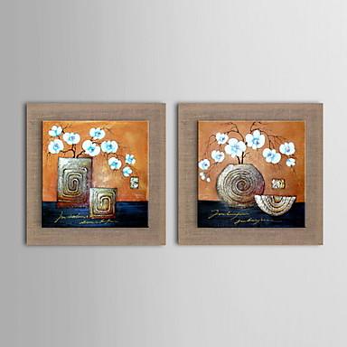 Hang malte oljemaleri Håndmalte - Blomstret / Botanisk Klassisk Lerret