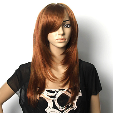 Women Synthetic Wig Straight Brown Costume Wig Costume Wig