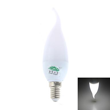 E14 LED gyertyaizzók CA35 8 led SMD 2835 Dekoratív Hideg fehér 280lm 5500-6000K AC 220-240V