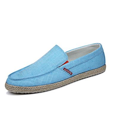 Erkek Ayakkabı Kanvas Bahar Yaz Sonbahar Kış Rahat Uyumluluk Günlük Koyu Mavi Gri Donanma