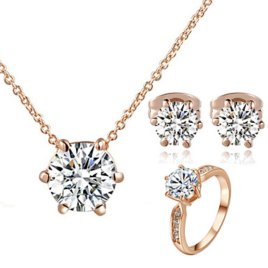 Women's Crystal Jewelry Set - Crystal, Cubic Zirconia, Imitation Diamond Classic Include Rings Set For Wedding / Party / Daily