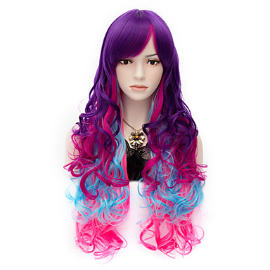 Synthetic Wig Curly Synthetic Hair Wig Women's Capless