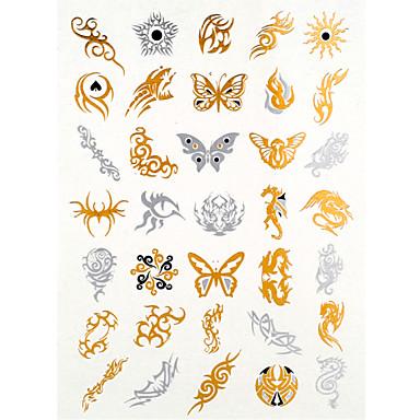 Seria biżuterii Naklejki z tatuażem - Damskie/Męskie/Dorosły/Dla nastolatków - Jewelry - 24.5*14*0.2CM - Paper -