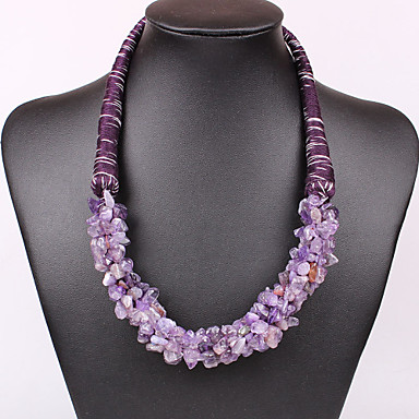 Women's Statement Necklaces Festival/Holiday European Synthetic Gemstones Jewelry Necklace For Party Special Occasion Anniversary