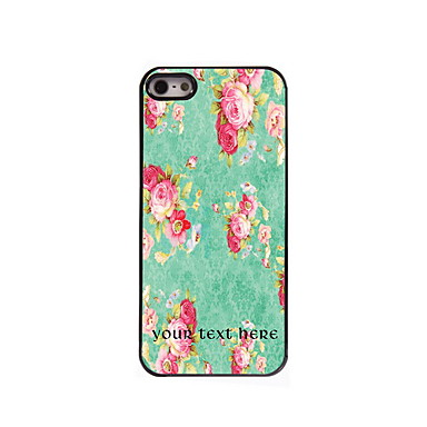 Personalized Gift Flower Design Aluminum Hard Case for iPhone 4/4S