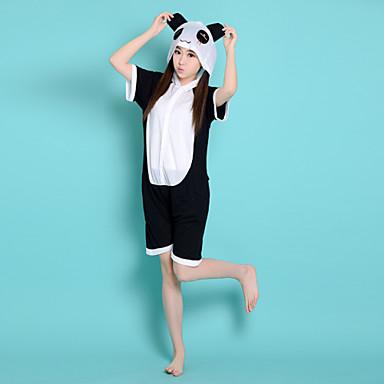 Kigurumi Piżama Panda Trykot opinający ciało/Śpiochy dla dorosłych Festiwal/Święto Animal Piżamy Halloween Biały / Czarny Patchwork