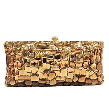 Kadın's Çantalar PU Gece Çantası Tılsım için Davet/Parti Tüm Mevsimler Altın Pembe