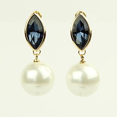 Σκουλαρίκι Κρεμαστά Σκουλαρίκια Κοσμήματα 2pcs Κράμα / Απομίμηση Μαργαριταριού / Στρας Γυναικεία Χρυσαφί / Λευκό