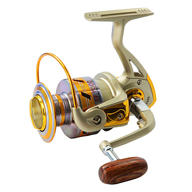 Fishing Reel Spinning Reels 5.5:1 Gear Ratio+10 Ball Bearings Left-handed Sea Fishing Fly Fishing Bait Casting Ice Fishing Spinning