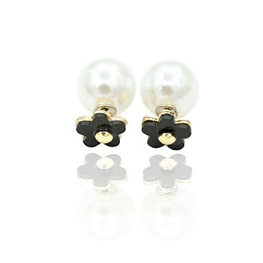 Naušnica Sitne naušnice Jewelry 1set Legura / Imitacija bisera / Kubični Zirconia Žene Zlatna