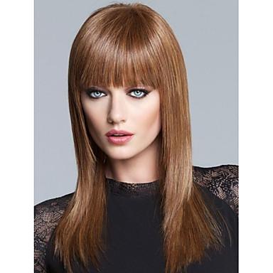 υψηλής ποιότητας capless μεγάλη ευθεία μονο κορυφή παρθένα remy ανθρώπινα μαλλιά περούκες 7 χρώματα για να επιλέξετε