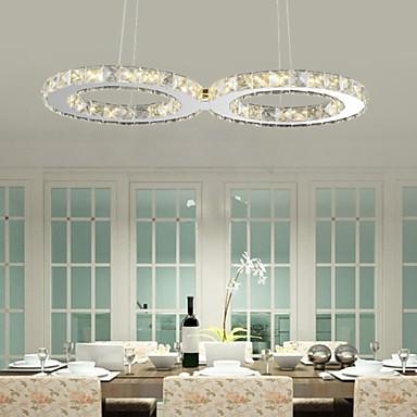 Ecolight™ Moderne / Contemporain Lampe suspendue Lumière d'ambiance - Cristal LED, 90-240V, Blanc Crème Blanc, Ampoule incluse