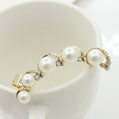 여성용 스터드 귀걸이 크리스탈 패션 유럽의 라인석 도금 골드 18K 금 모조 다이아몬드 오스트리아 크리스탈 보석류